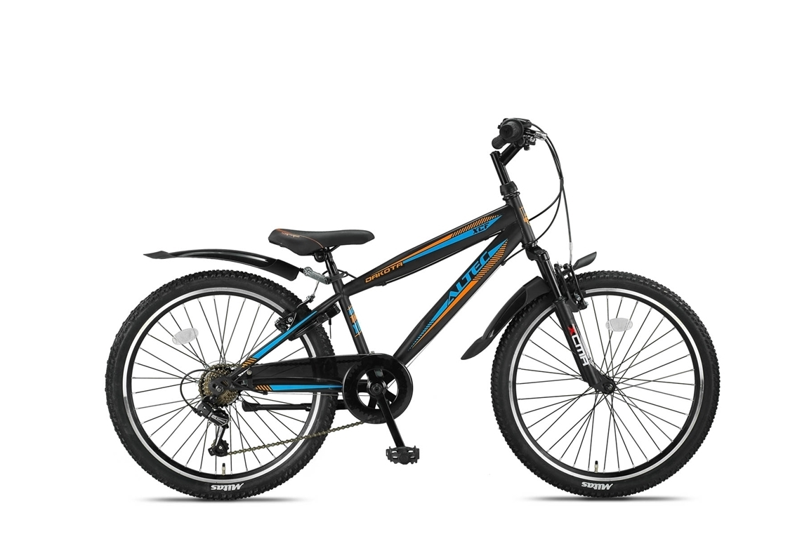 Altec Dakota 24inch Jongensfiets Black-Orange 7-Speed